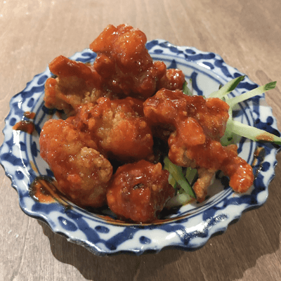 Deep-fried octopus chili sauce